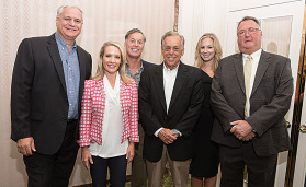 Anderson Metals executives with former White House Press Secretary Dana Perino during the Industrial Piping Division Breakfast sponsored by Anderson Metals