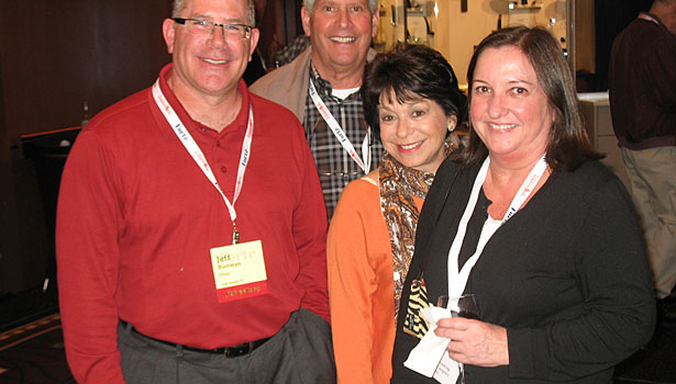Jeff Bierman (Elkay), Ralph Sevinor (Salem Plumbing Supply), Michelle Brown (Elkay) and Robin Davis (Salem Plumbing Supply)