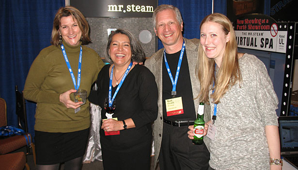 Andrea Ivancich (Seattle Intertiors), Marth Orellan (Mr. Steam), Bart Gorelik (Mr. Steam) and Stacy Garhart (Seattle Interiors)
