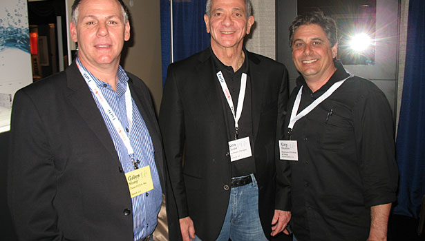Galen Stump (Duravit), Ken Goren (Hardware Designs) and Gary Erickson (Renaissance Molding & Design)