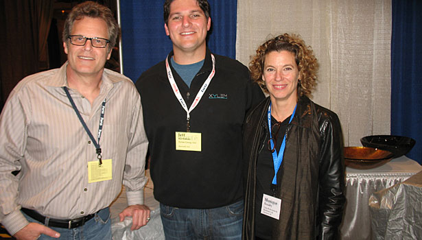 Hal Weinstein (Xylem), Jeff Kirkman (Xylem) and Monique Beaudry (Cantu Bathrooms & Hardware)