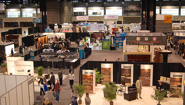 Overview of the show floor at Chicago's McCormick Place