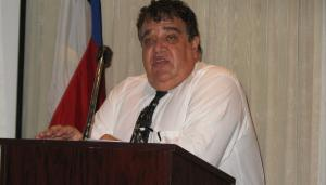 Michael J. Economides, professor at the University of Houston, spoke at the PVF Roundtable