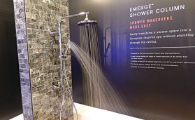 Delta Faucet shower column (KBIS Preview)