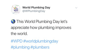 World Plumbing Day 2019 tweets