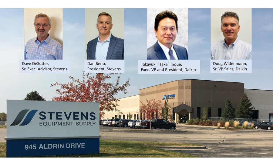 Daikin Aquires Stevens Equipment image with Management