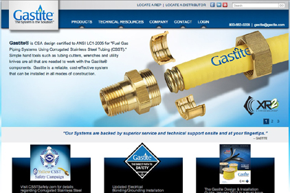 Gastite Launches New Website For Contractors Engineers And