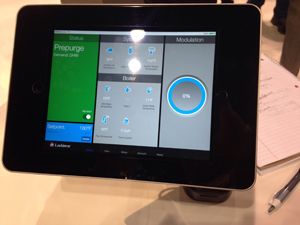 Lochinvar showcased its CON-X-US app for tablets and smartphones .