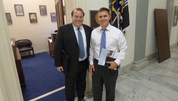 ASA Executive Director Chris Murin and New York Rep Daniel Maffei staffer Bryan Maxwell.