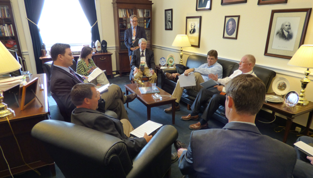 Members of Bradford White and APR Supply meet with Pennsylvania Representative Jim Gerlach.