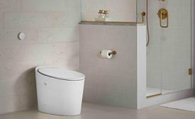 KOHLER Avoir tankless battery powered toilet