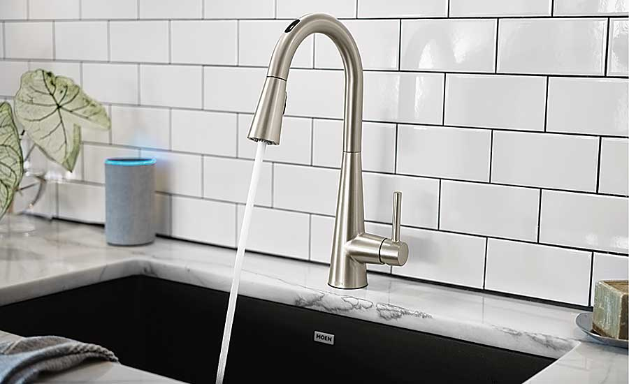 U by Moen voice activated faucet