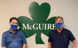 McGuire Mfg. Co.'s Kevin Mayer (left) and Bob Williams
