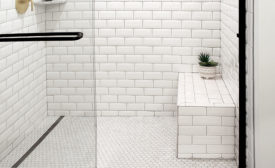 QuickDrain shower bench
