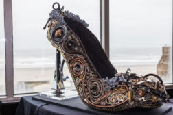 Brizo commissioned artist Amy Fliss to create one giant and stunning shoe.