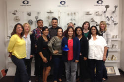 California Faucetsâ?? customer service team with the DPHA award.