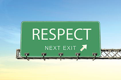 respect road sign