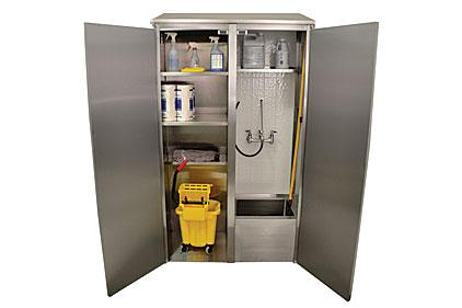 Mop Sink Cabinet : Double width mop sink cabinet 2013-07-01 Supply House Times