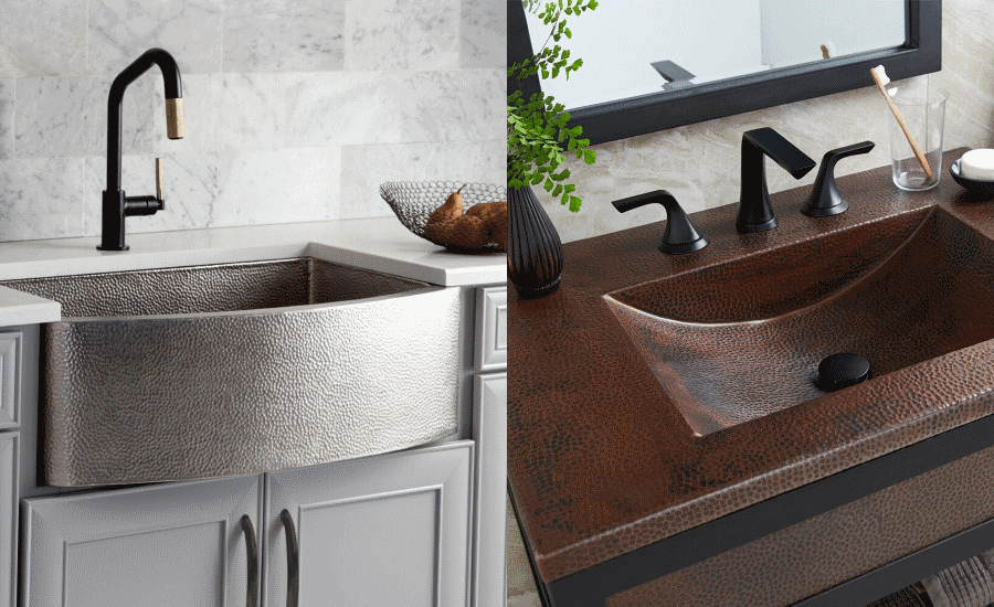 Native Trails Rhapsody farmhouse sink and Cozumel Vanity Top