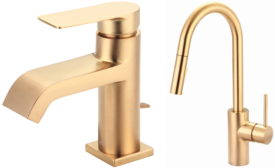 Pioneer Industries' Brushed Gold Finish