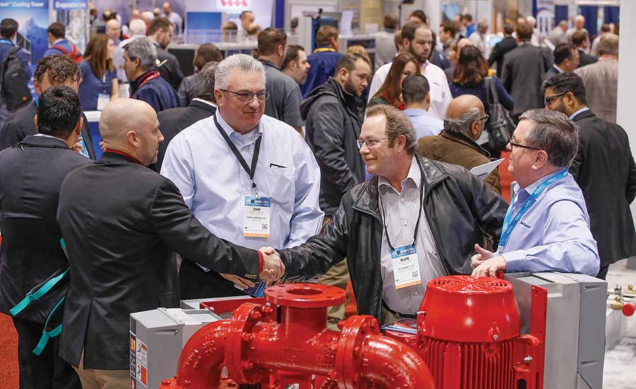 The AHR Expo is one of the biggest networking events