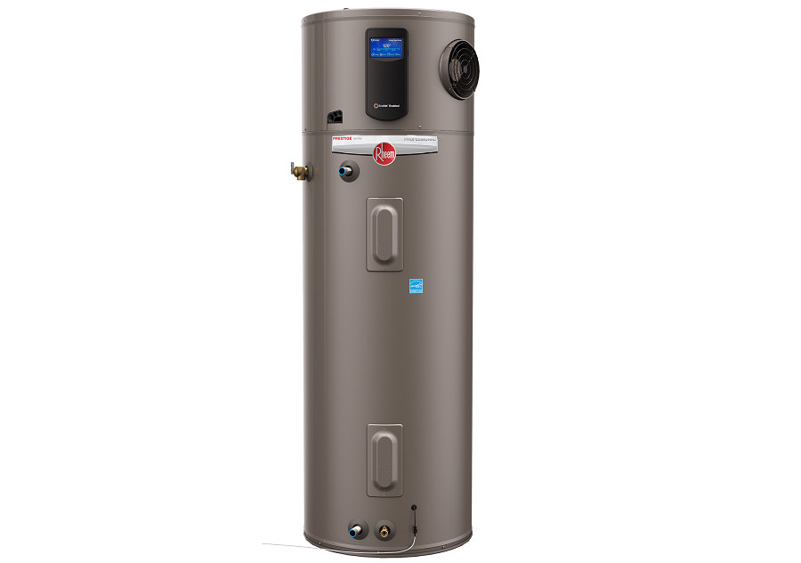 Hybrid electric commercial water heater from Rheem