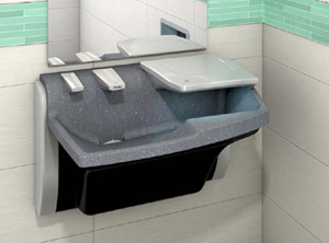 "The all-in-one"" Advocate Lavatory System from Bradley Corp. was honored with the 2012 Good Design Award."