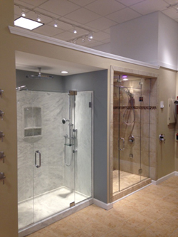 Frank Webbâ??s Bath Center recently opened a new showroom in Falmouth, Mass.