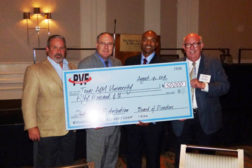 PVF Roundtable Scholarship Fund presents members of Texas A & Mâ??s Dwight Look College of Engineering with a check for $50,000.