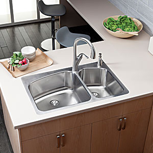 Elkay double-bowl sink