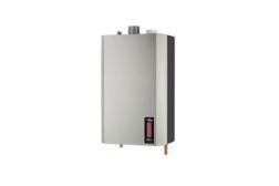 Utica SSV is a gas-fired, wall-hung, stainless-steel modulating condensing boiler.