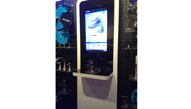Danze display within a showroom location gives a shopper that added benefit of an in-store searchable tool.