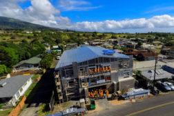 An overhead view of a 16-home condominium in Maui