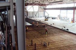 Helicopter maintenance hangar