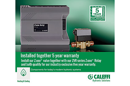 Caleffi 5-year warranty