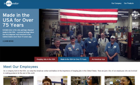 In honor of its American roots, InSinkErator has created a new website.