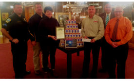 Eastern Penn Supply Co. recently presented a check for $1,020 to the Scranton Police Dept.
