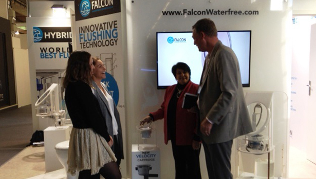Andrea Chase and Simon Davis of Falcon Waterfree Technologies