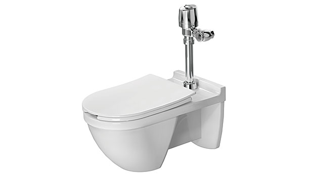 duravit flushometer toilet collection