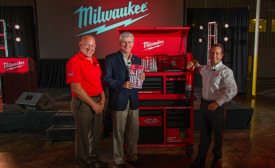 Jack Bilotta, Phil Bryant and Steve Richman from Milwaukee Tool.