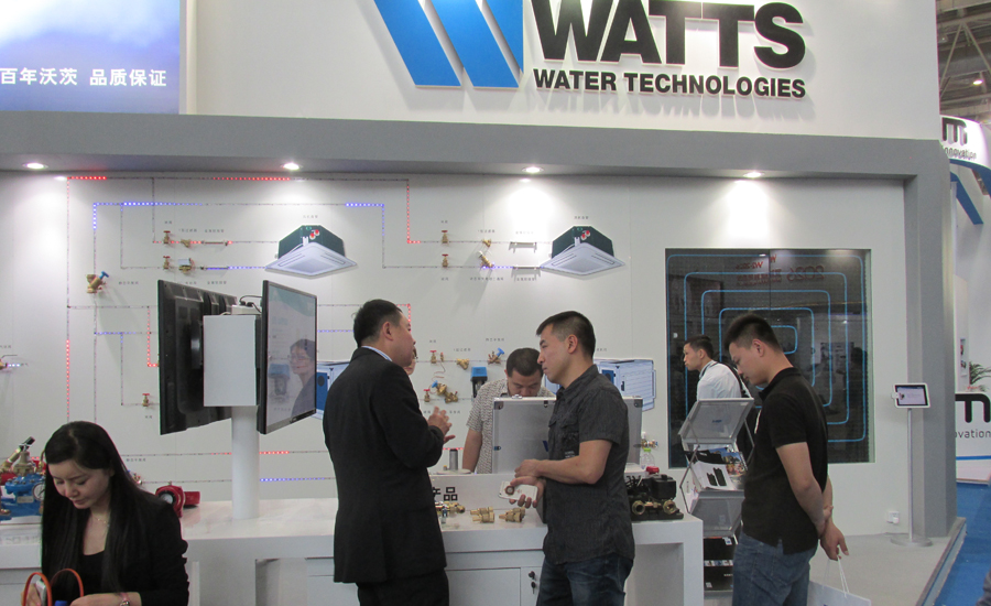 Watts Water Technologies showcased its valve line during the 2015 ISH China trade show
