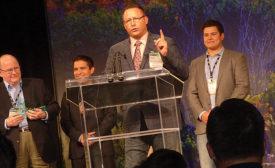 Glenn Fuller accepts the Plumbing Member of the Year honor