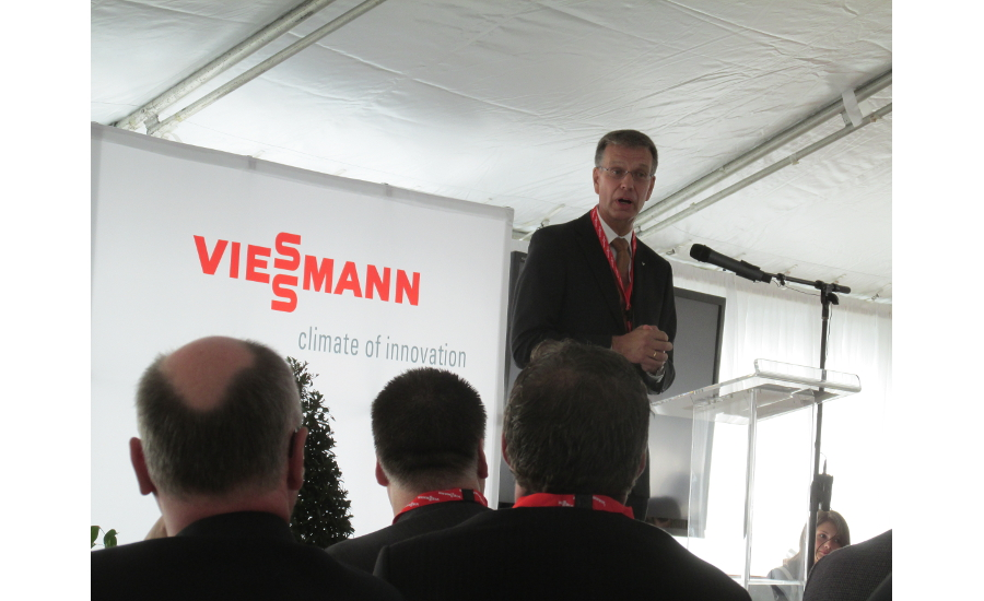 Dr. Martin Luz at Viessmann's U.S. headquarters