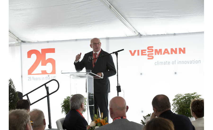 Dr. Martin Viessmann at Viessmann's U.S. headquarters