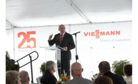 Dr. Martin Viessmann at Viessmann's U.S. headquarters