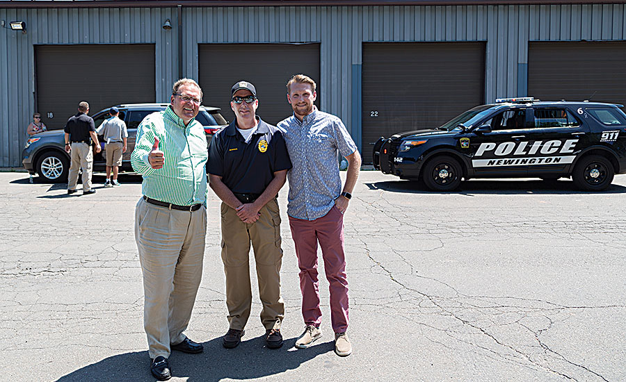 Keeney Mfg. Co. makes donation to local police youth academy