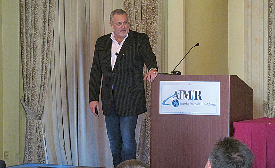 The high-energy Jeffrey Hayzlett of The Hayzlett Group opened the conference with his keynote address