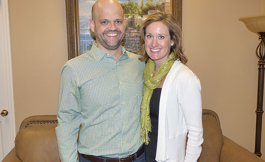 CEO Christina Williamson (right) and her husband, Vice President Tim Williamson, St. Louis-based industrial PVF master distributor Service Metal