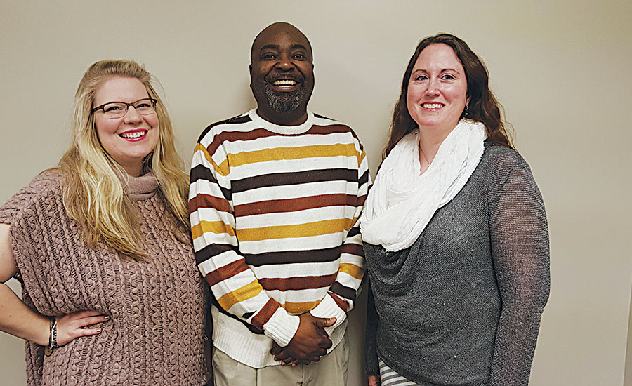 Service Metal's Charlotte location, sales staff members, from left: Laura Lagraba, John Curbeam and Tamaura Adair