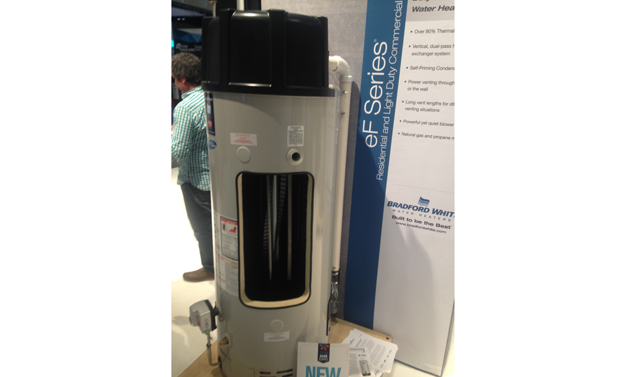 Bradford White gave its customers a preview of its eF Series water heater during the 2016 AHR Expo.